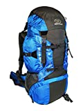 Highlander 45L Discovery Rucksack Lightweight Hiking Backpack with Waterproof Cover – Ideal for Walking, Travelling, Trekking, Camping and D of E – Available in Black, Blue, Red & Teal (Blue)