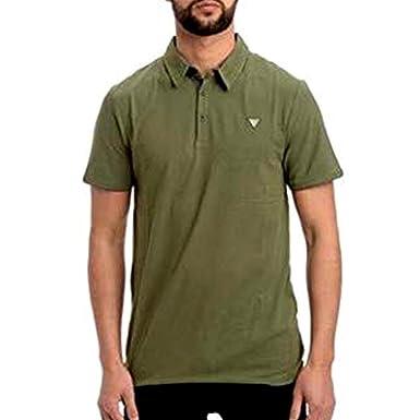 Guess M92P18J1300 - Camiseta de algodón para hombre Verde M ...