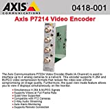AXIS 0418-001 Four-channel video encoder blade. Dual streaming H.264 and Motion JPEG on all channels. Max D1 resolution at 30/25 (NTSC/PAL) fps on all
