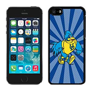 Popular And Durable Designed Case With NCAA Colonial Athletic Association CAA Football Delaware Fightin Blue Hens 4 Protective Cell Phone Hardshell Cover Case For iPhone 5C Phone Case White