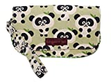 Bungalow 360 Vegan Natural Canvas Wristlet (Panda)