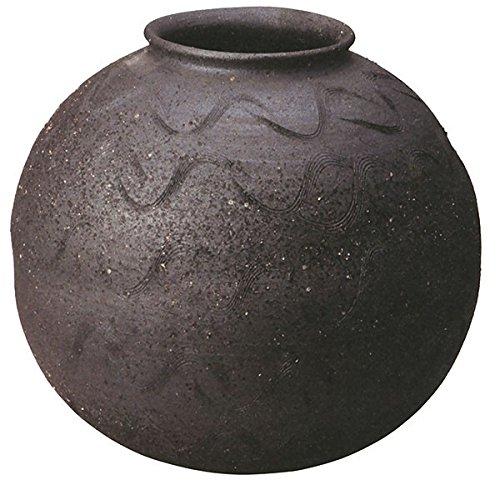 信楽焼 しがらき物語 藍すみ丸花瓶13号(全高36.5cm×全幅40cm)( B075MWF886