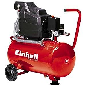 Einhell Compresseur TC-AC 190/24/8 (1100 W, Puissance d'aspiration 160 l/mn, Pression maximale 8 bar, Débit d'air 0, 4, 7 bar : 98 l/m, 76 l/m, 60 l/m, Capacité de la cuve : 24 L)