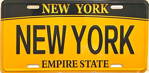 (New York City, NYC, NEW YORK NEW YORK, NYC License Plate, Home decor, Standard Auto License Plate. 12x6in, use on wall or use in ur car)