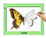(US) JUNLON Aluminum A4 USB LED Light Pad Light Box Table Light Drawing Tracing Board,Tracer,Adjustable Brightness Ultra-Slim Led Pad Light for Weeding Vinyl,Artcraft,Sketching,5D Diamond Painting