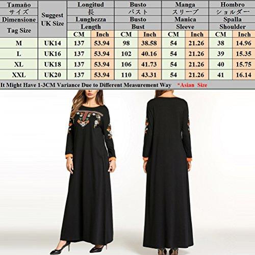 Women Abaya Zhuhaitf Turkish 16 for Black Maxi Fashion 14 Size Islamic 20 18 Women's Clothing Evening Dresses nggRC