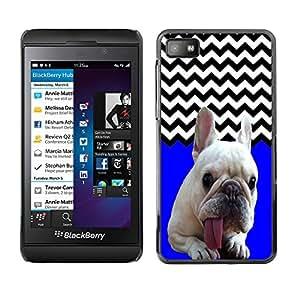 - FRENCH BULLDOG Chevron - - Fashion Dream Catcher Design Hard Plastic Protective Case Cover FOR Blackberry Z10 Retro Candy