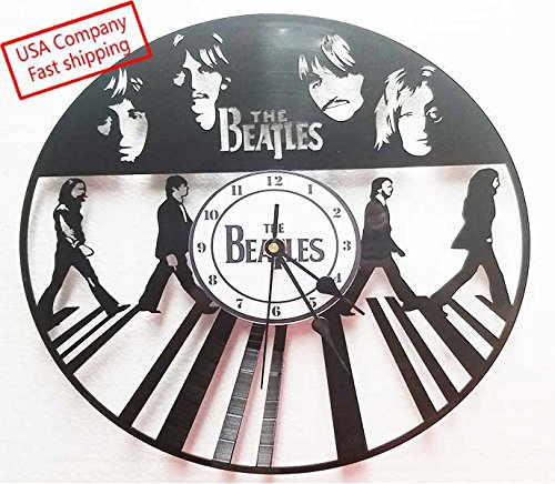 Vinyl record clock Beatles Abbey Road