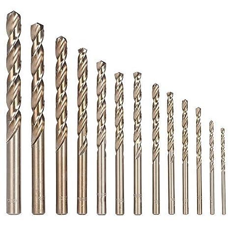 Amazon.com: HENUO 13 brocas métricas M35 con vástago recto ...
