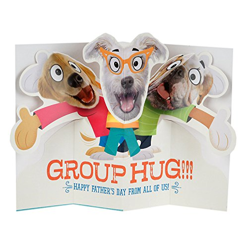 Hallmark Funny Father's Day Greeting Card from All (Dog Pop-Up Group Hug) Photo #3