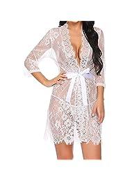 Women Sexy Lingerie Babydoll Sleepwear Underwear Lace Briefs Nightwear