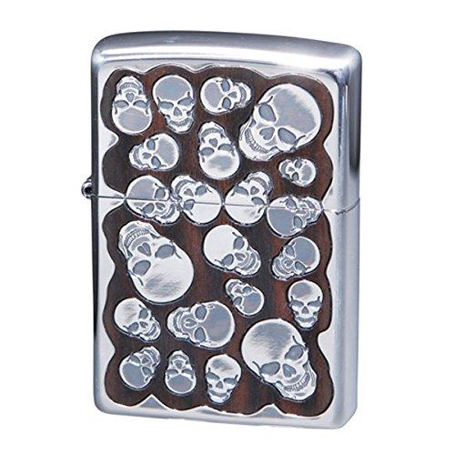 ジッポ ZIPPO オイルライター ランダムスカルウッド メンズ RSW-B ブラウン 喫煙具 ZIPPO 一般 [並行輸入品] mirai1-521099-ah [簡素パッケージ品] B06XSZBLG8