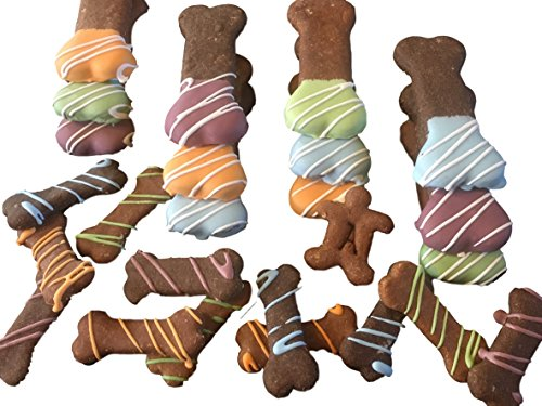 [All Natural Dog Treats - Best Gourmet Baked Vegetarian Wheat Free Cookie for Healthy Dogs - Peanut Butter w/ Sugar Free Yogurt Icing - 16 oz - Made in USA Only - Makes a Great Gift] (Holiday Dog Cookies)