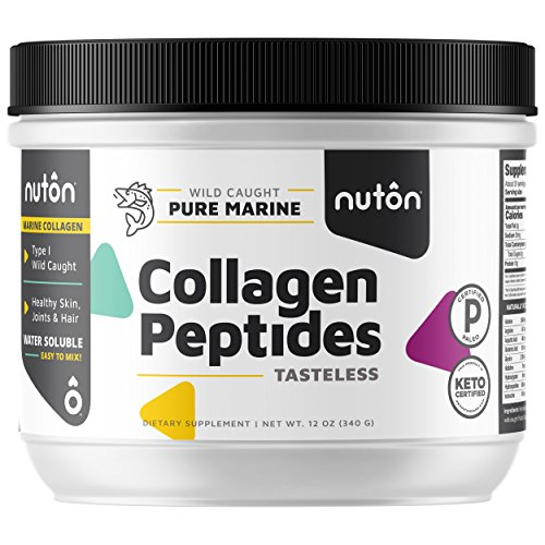 Marine Collagen Peptides by Nuton, 12 oz. Powder | Amazing Intro Pricing | Wild Caught Fish, Hydrolyzed and Tasteless