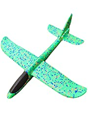 Hand Launch Throwing Glider Aircraft Inertial Foam Airplane Toy Children Plane model Outdoor Fun Toys,Green