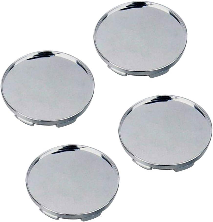 Everrich 68mm Silver Universal Car Wheel Center Hub Caps Set of 4