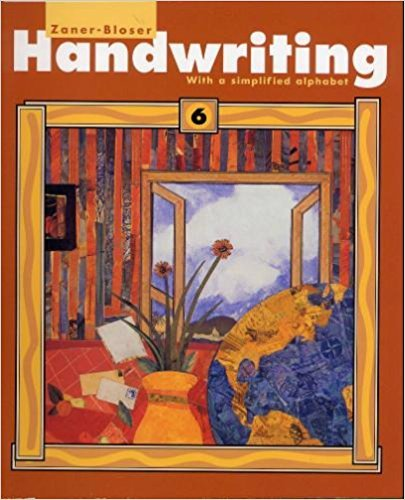 Handwriting with a simplified alphabet: Level 6