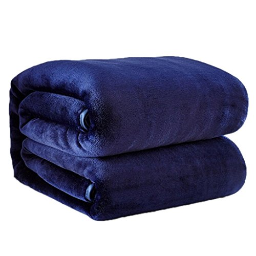 Lowprofile Super Soft Throw Blanket Warm Micro Plush Fleece Blanket Throw Rug Flannel Blanket Play Blanket For Kids And Adults (5070cm, Blue)
