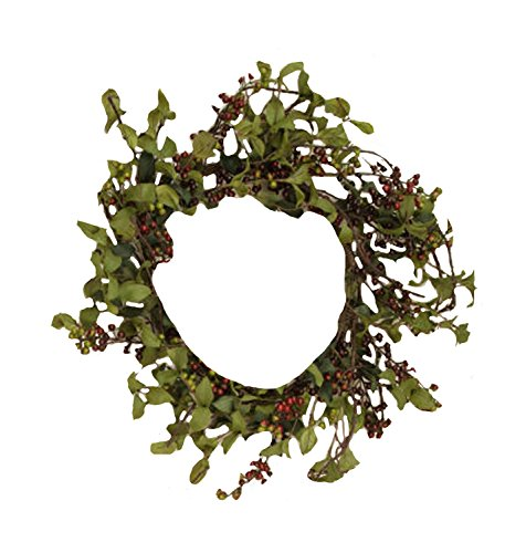 Your Heart's Delight Herb Leaves with Burgundy Berries Wreath, 11-Inch