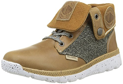 Palladium Women's Plvil BGY TCT F Hi-Top Trainers Marron (427 Tan) 2YMVH