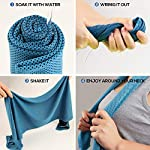 NiYoung Cooling Towels for Neck Wrap, Instant Cool Towel Rough Collie Dog 40x12 Inches, Soft Ice Towel, Super Breathable Microfiber Chilly Towel for Yoga, Sports,Golf, Workout 9
