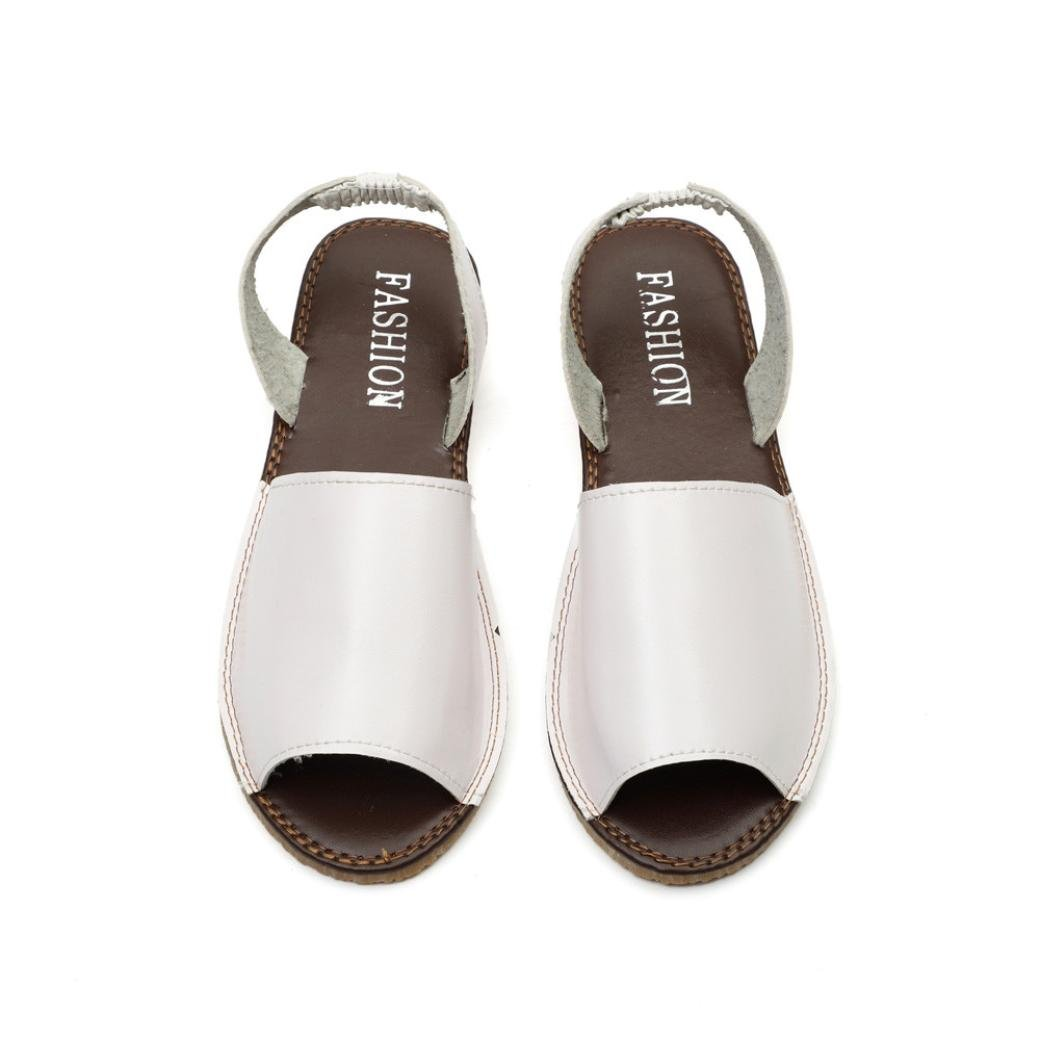 220426e37 ... WOCACHI Women Shoes Fish Mouth Espadrilles Summer Chunky Holiday Shoes  Flat Sandals UN-457993467