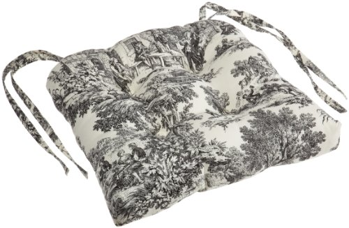 Ellis Curtain Victoria Park Toile Cushioned Chair Pad, (Victoria Panel Bed)