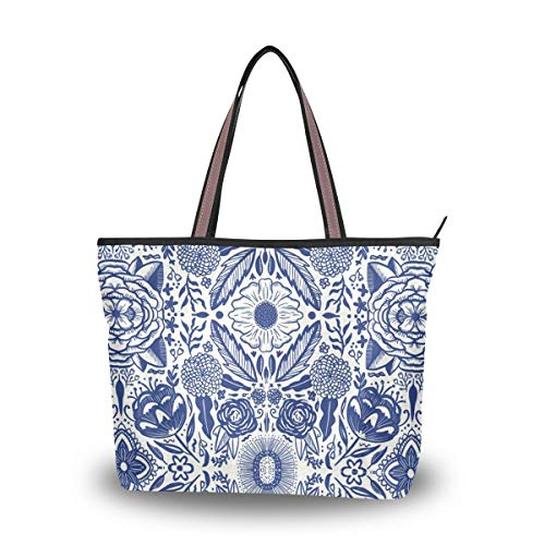 - Stylish Women's Tote Bag with Chinese Oriental Asian Print - Handbags Shoulder Bag for Gym Travel Picnic Beach