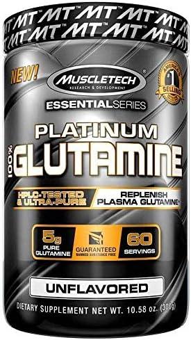 Muscletech Essential Series Platinum 100 Glutamine Unflavored 5 g 10 58 oz 300 g