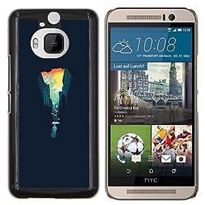 - Abstract Cityscape For HTC One M9+ / M9 PLUS Duro Snap en el tel???¡¯???€????€?????fono celular de la cubierta @ Cat Family