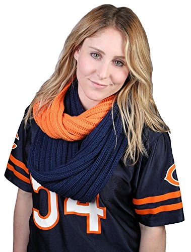 Game Day (College Pro High School) CC Circle Infinity Scarf - Orange & Blue