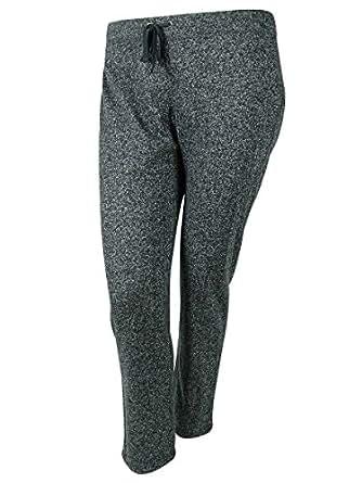 Style & Co Women's Sport Flecked Pants (1X, Uniform Blue)