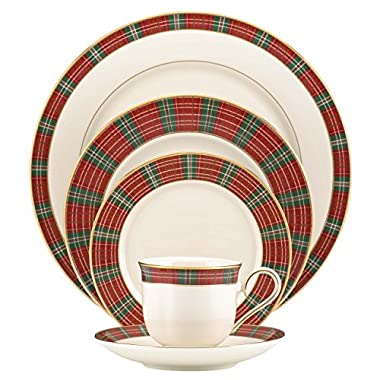 Lenox Winter Greetings Plaid 5 Piece Place Setting