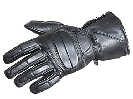 e7ef6550dc2ce Image Unavailable. Image not available for. Color: New Motorcycle Biker  Premium Leather Thermal Full Gloves ...