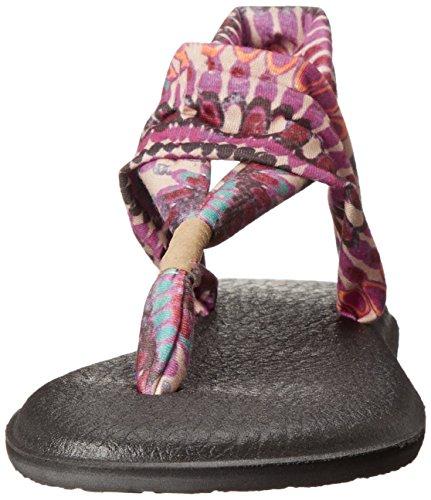 Fionda Yoga Donna Sanuk 2 Girandola Flip Flop Fucsia
