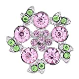 Wholesale Vocheng 18mm Bling Flower Snap Jewelry Vn-104120 Pack of 20pcs