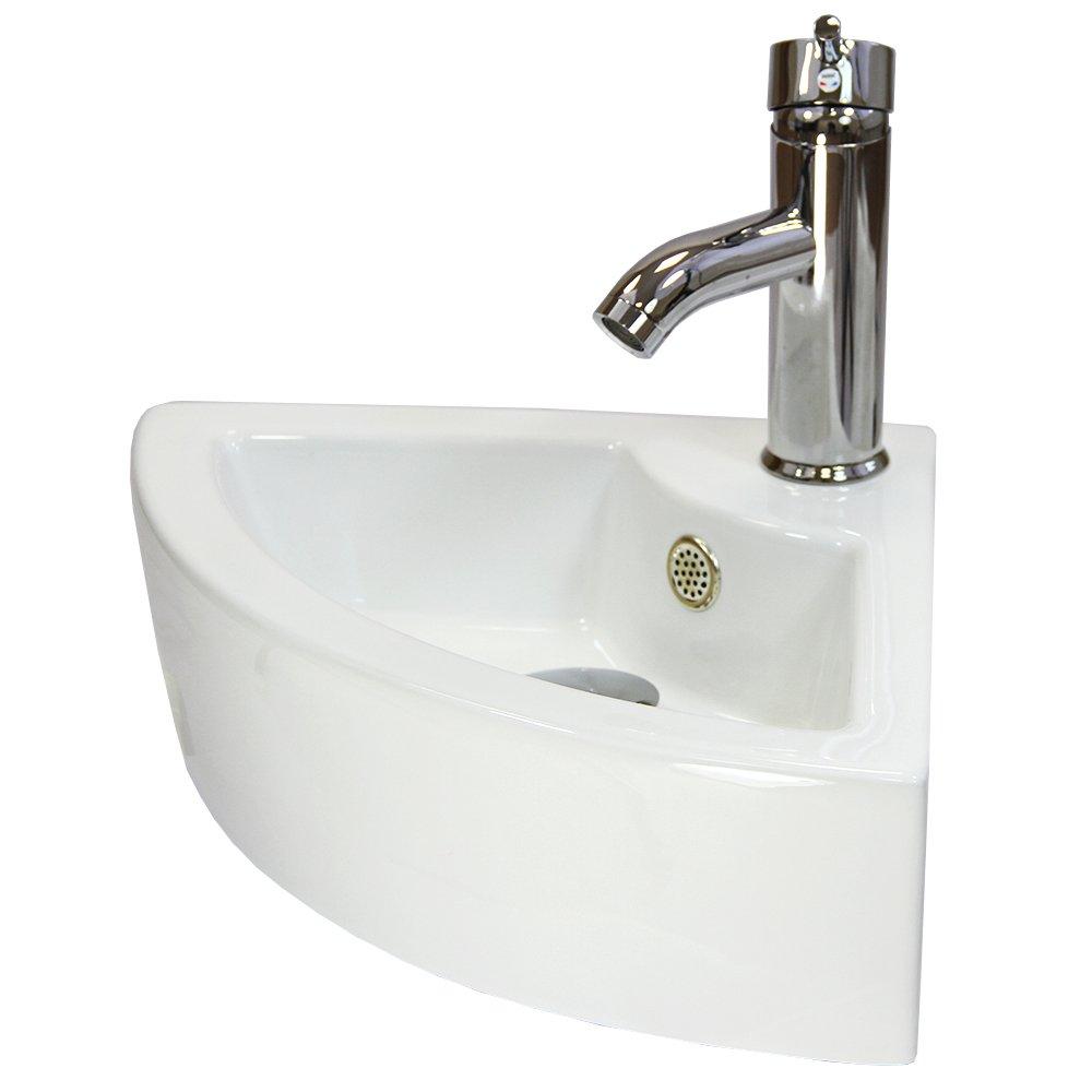 Lavabo esquina mueble de bao con lavabo y espejo pequeo - Lavabo de esquina ...