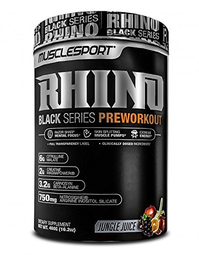 MuscleSport Rhino Black Pre-Workout Jungle Juice