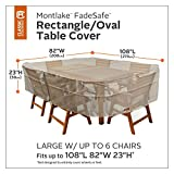 Classic Accessories Montlake 84'' x 110'' Patio Dining Set Cover in Gray