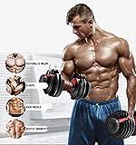 BIZBON Adjustable Dumbbell, Fast Adjust Weight