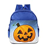 Boomy Fashion Halloween Pumpkin Backpack For 3-6 Years Old Toddler Kids RoyalBlue Size One Size