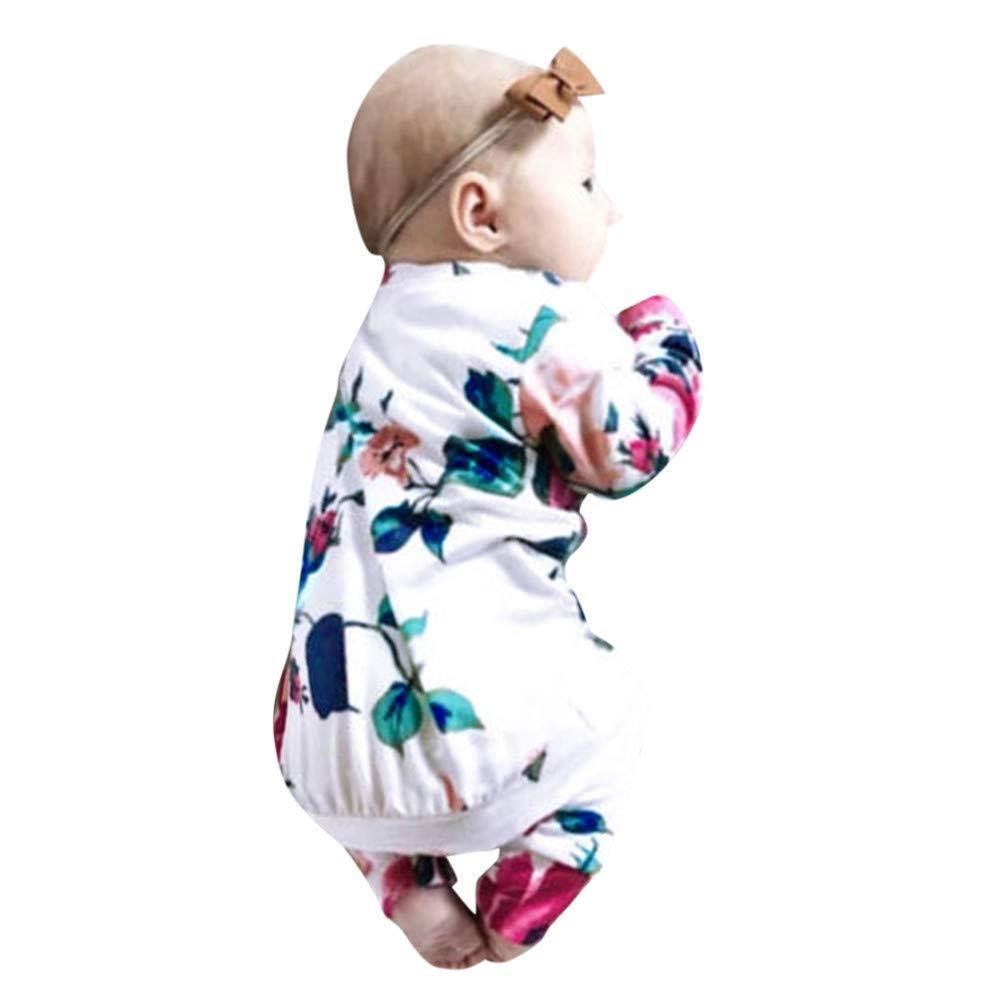 Amazon.com: Hatoys Baby Girl Boy Floral Tops T-Shirt Pants Hat ...