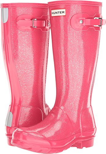 Hunter Kids Unisex Original Glitter Finish (Little Kid/Big Kid) Mosse Pink 2 M US Little Kid (Pink Hunter Rain Boots)