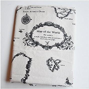 World map linen fabric world map curtain panel cotton linen world map linen fabric world map curtain panel cotton linen material for curtains upholstery craft gumiabroncs Choice Image