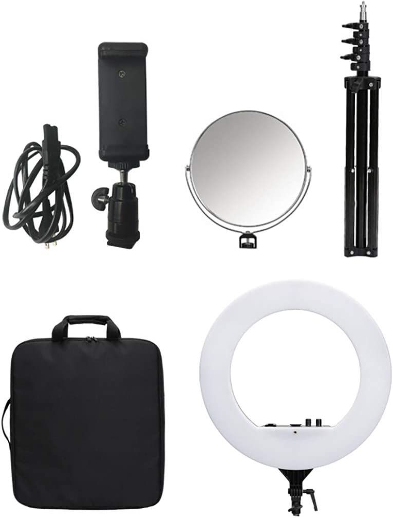 Carrying Case for Portrait YouTube Video Shooting Makeup Mirror Peaceip US 23.6in External Dimmable SMD LED Ring Light Kit 55W-5500K Kit Includes 78.7in Tripod Bracket Phone Clip