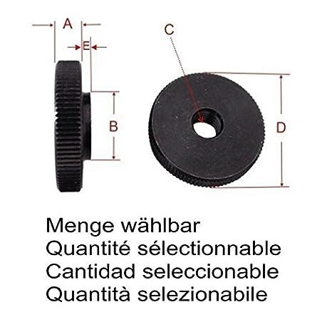 / Quantit/é au choix La voiture /Écrou M8/M/étal massif acier bruni DIN 467/