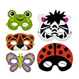 Create Your Own Foam Animal Mask (Pack of 6) Halloween, Masquerade & Animal Costume Theme Parties