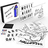 Smart Cinematic Light Box | A4 Cinema Light Box with Letters 120 | LED Handwriting Board with Markers | Slide Projector with Artistic Slides | USB or Battery | Holds Letters in Place | by Litovative