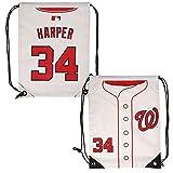 FOCO MLB Washington Nationalsharper B. #34 Drawstring Backpack, Washington Nationals, One Size