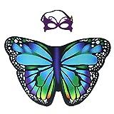 iROLEWIN Kids Dreamy Butterfly Wings Costume for Girls Fancy Dress Up Pretend Play Party Favor (#04 Butterfly Wings Set)